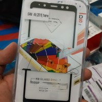 Tempered Glass Hp Samsung A8 2018 - New 5D Full Ful Layar B Anti Gores