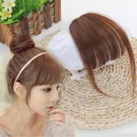 poni clip medium side bang hair clip rambut palsu extension
