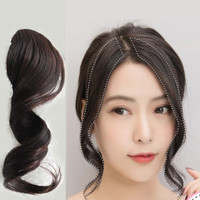 poni clip one side bang curly hair clip rambut palsu extension