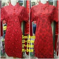 PROMO Cheongsam Batik Katun Semi Dress Free Size