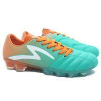 sepatu bola Specs Equinox FG (Comfrey Green/Spirit Orange/White)