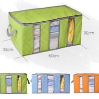 Cloth Storage Box Tas Tempat Baju 3 Sekat Pakaian Serbaguna Bamboo Bag