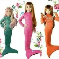 Setelan Baju Panjang Kostum Renang Mermaid /Putri Duyung Motif Sisik