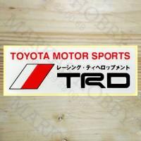 Stiker TRD Toyota Motor Sport