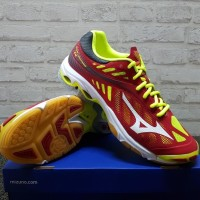 Sepatu Volly Mizuno Wave Lightning Z4 Red Yellow V1GA 180001 Original