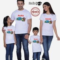 Kaos Keluarga / Baju Family ( 2 Dewasa 2 Anak ) TAYO