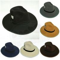 Topi Fedora lebar Aneka warna