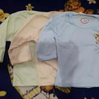 baju kaos oblong panjang bayi tebal 1 2 3 thn