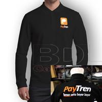 Kaos Polo Shirt Paytren Lengan Panjang Hitam