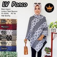 Baju Atasan Wanita Muslim Blouse LV Ponco