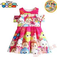 Dress Anak Import Pink Tsum Tsum Baju Pesta