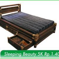 Kursi Bambu Hitam Pilihan Tipe Sleeping Beauty 5K