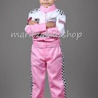 Baju Anak Baju / Stelan / Setelan / Kostum Profesi Pembalap Perempuan