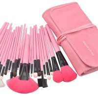 [Make Up for You] KUAS DOMPET make up Brush Set isi 24pc RED/PINK