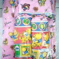 Anugrah Baby 2 Guling 1 bantal 1 Kasur warna Pink Bayi Motif Boneka Or