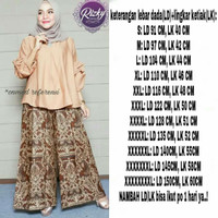 stelan celana panjang kulot wanita batik jumbo bigsize murah