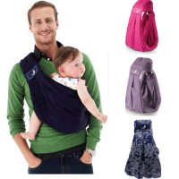 the BabaSling Classic Baby Sling Carrier Multiple position