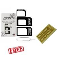 Buy 1 Get Free Noosy Adapter Sim Card Micro Kartu Jarum Sitker Penguat