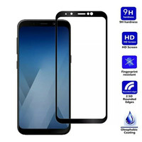 Tempered glass Full 3D samsung A8 2018 anti gores kaca curved warna