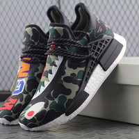 Adidas Nmd Human Race x Pharrell Williams x Bape WGM