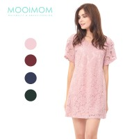 MOOIMOM Full Lace Nursing Dress Baju Hamil Menyusui