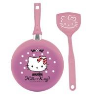 Maxim Hello Kitty Wajan Teflon 22 cm + Spatula - Pink Terlaris