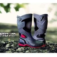 MOTO 3 Sepatu Karet PVC Anti Tembus Air Banjir Hujan AP BOOTS MOTO3