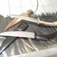pisau sisit baja D2 sarung full tanduk
