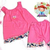 baju setelan polos bayi & anak perempuan 6 bulan - 2 tahun warna murah