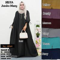Baju Terusan Wanita Muslim Longdress Hilya Jombo Maxy