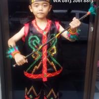 Dayak Laki2 SD Kls1-3   Baju Adat Kostum Anak Karnaval Parade Pentas
