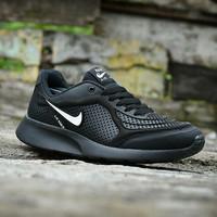 Sepatu Nike Airmax Running Men Full Hitam Sport Running Sekolah Pria