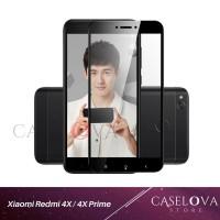 Full Cover Tempered Glass Warna untuk Xiaomi Redmi 4X / 4x Prime - Putih