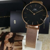 Jam DW Daniel Wellington Wanita Petite Black Melrose 32mm ORIGINAL/ORI