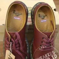 sepatu pria wanita boots formal docmart supreme low coklat maroon size