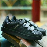 Sepatu Sekolah Anak Adidas Superstar Hitam Size 31-35