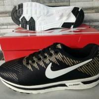 Sepatu Nike Zoom Running Black Gold Hitam Emas Putih Grade Ori