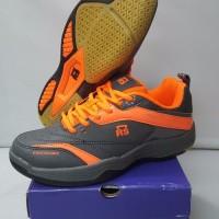 Sepatu Badminton RS Sirkuit 571 Grey Lemon