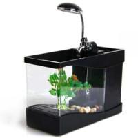 Aquarium Mini USB Lileng-918 Ikan Portable | meja kantor | mini set