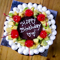 kue ulang tahun uk 22 birth day cake (avocado cake base)