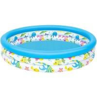 Bestway Coral Kids Pool Biru Putih 122cm Kolam Renang Karet Anak.