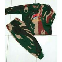 Baju Kaos Setelan Lengan Panjang Anak Doreng Loreng Kopasus TNI Army