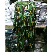Baju Kaos Setelan Lengan Panjang Anak Doreng Loreng Brimob Marinir