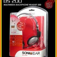 [PROMO] SONICGEAR BS200 - PC Stereo Mutimedia Backphone Heatset  Micro