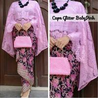 Baju Kebaya Setelan Wanita Batik Motif Cantik Cape Mimi Pink Termurah