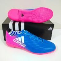 MURAH BERKUALITAS Sepatu Futsal Adidas X IC (Blue Pink)