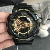 Jam Tangan Casio G-Shock GA 110 Black Gold Original BM