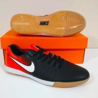 MURAH BERKUALITAS Sepatu Futsal NIKE Tiempo Ligera IC (Black Red)