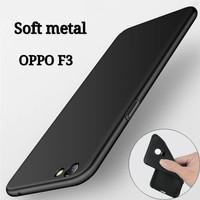 Casing Soft Case Ultra Skin Matte Black Doff Oppo F3 / A77