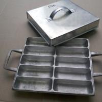 Loyang Cetakan Pukis Pancong Kue Tradisional 10 lubang bentuk Kotak